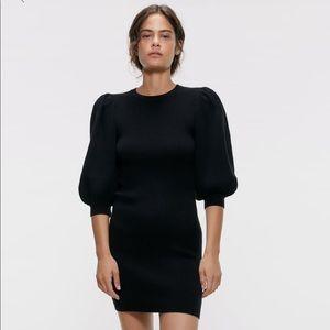 Zara puffy sleeve dress